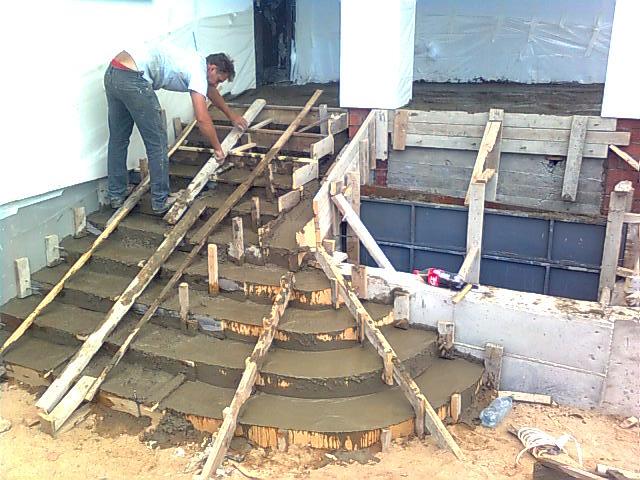 Крыльцо из бетона своими руками фото
