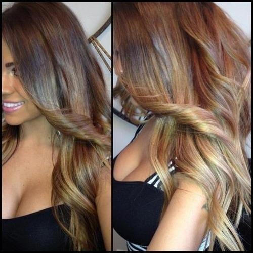 Картинки амбре из цветных волос - a