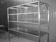 Стеллажи из нержавеющей стали Сн-600х600х1600