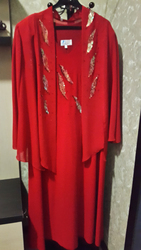 Женский комплект красного цвета