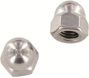 Гайка DIN 1587,  шестигранная колпачковая;  сталь А2,  М6,  М8,  М10,  М12,