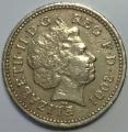 Продам монету one pound Elizabeth II 2001