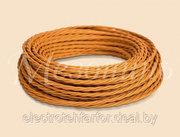 Витой провод для наружной проводки в ретро стиле Mezonin,  цвет - медь