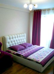 Отличная 1 - комнатная квартира с новой мебелью на часы,  сутки,  недели