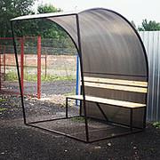 Беседки металлические для отдыха и мест для курения.