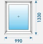 Окно Пвх 990 х1330 дешево профиль Kbe 70