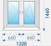 Окна Пвх 1320х1460 дешево профиль Rehau-7