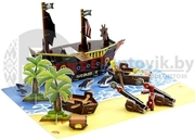 Анимационная студия Пиратский корабль StikBot Movie Set Pirate Scene