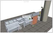 Барная станция,  Коктейль станция  (из нерж стали(