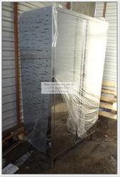Шкаф хлебный 2-х дверный из нерж стали р-р 1000х600х1850мм и др.
