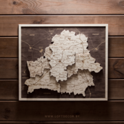 Минск на карте из дерева
