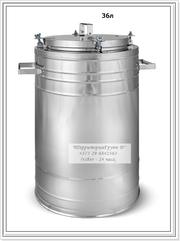 Контейнер-термос для перевозки горячей пищи из нержавеющей стали на 4-