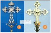 Крест православный из нерж стали с покрытием нитрид титана