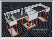 Барная станция из нержавеющей станции (делаем под заказ,  дизайн проект