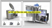 Охладитель молока открытого типа на 100,  200,  300,  500 литров