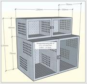 Клетка на 4 места для животных из нерж стали