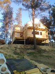 Строительство домов,  коттеджей бань в Клецке