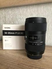 Объектив Sigma 18-35 f1, 8 для Nikon